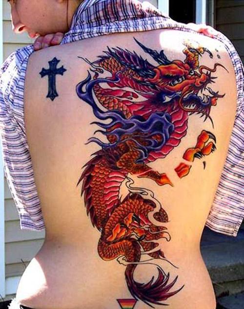 tatuajes mujer de dragones 1