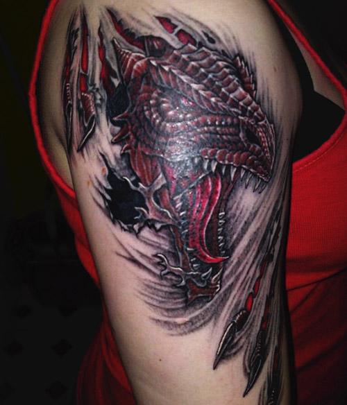tatuajes mujer de dragones 4