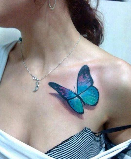 tatuajes para mariposas mujer hombro 1