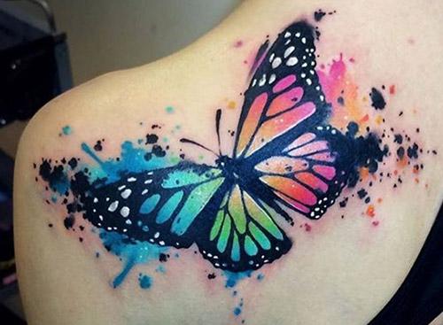 tatuajes para mariposas mujer hombro 2