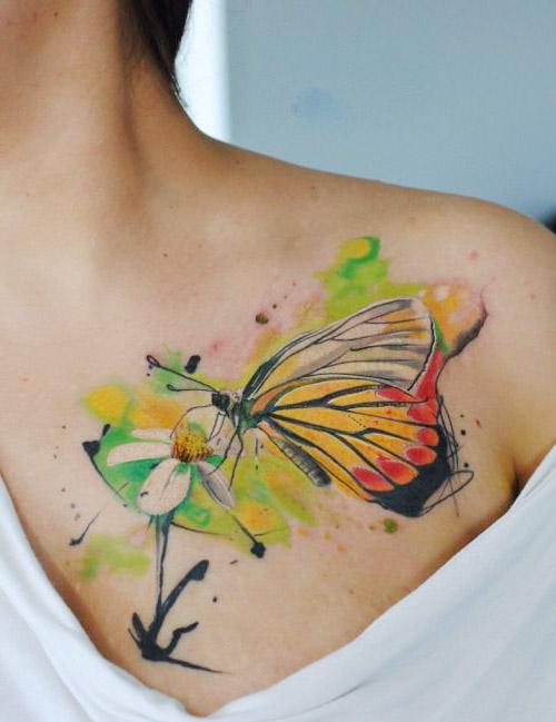 tatuajes para mariposas mujer hombro 3