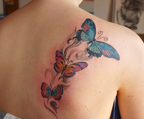 tatuajes para mujeres de mariposas espalda 1
