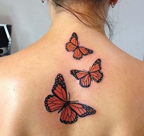 tatuajes para mujeres de mariposas espalda 2