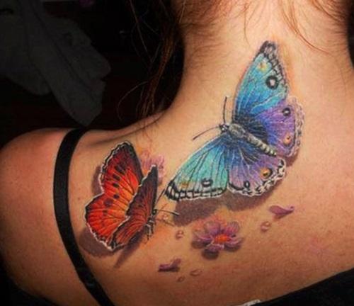 tatuajes para mujeres de mariposas espalda 3