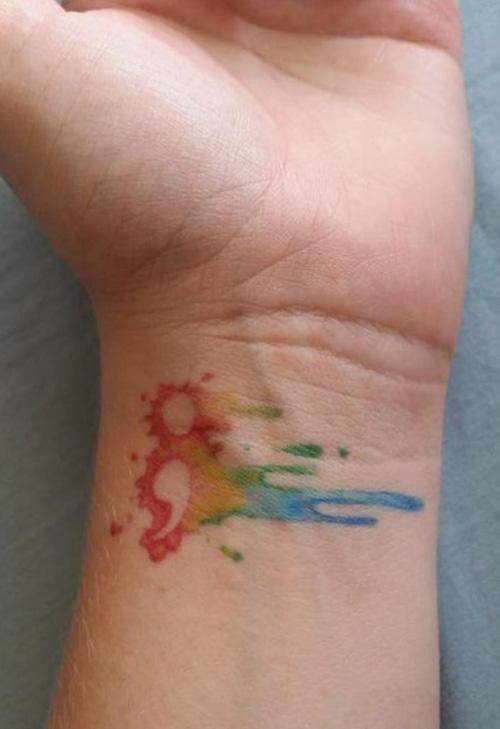 tatuajes punto coma significado 11