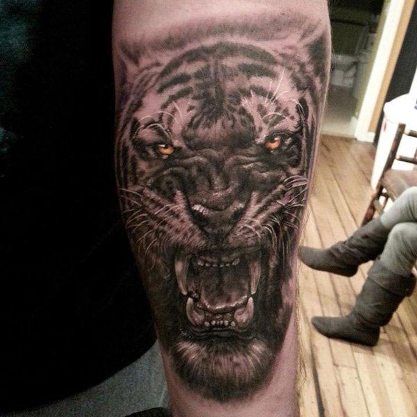 tatuajes tigres brazo hombro 3 - tigres