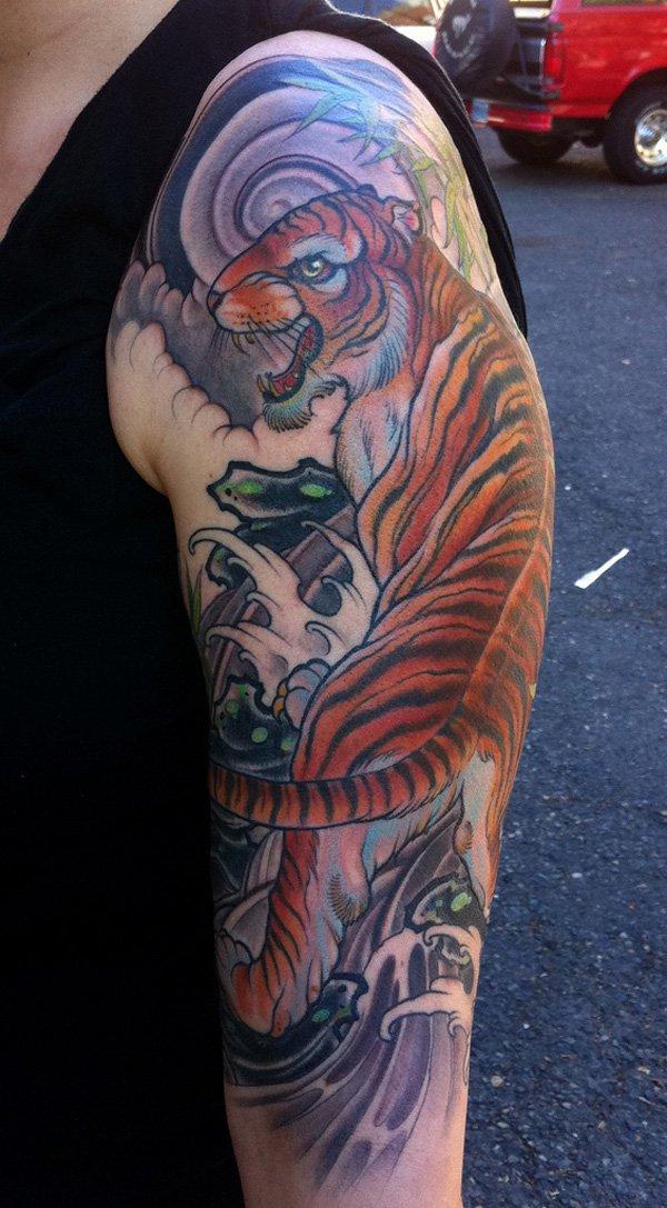 tatuajes tigres brazo hombro 4 - tigres