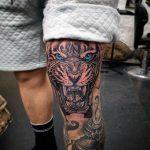 tatuajes tigres en la pierna rodilla tobillos 1 150x150