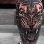 tatuajes tigres en la pierna rodilla tobillos 2 150x150