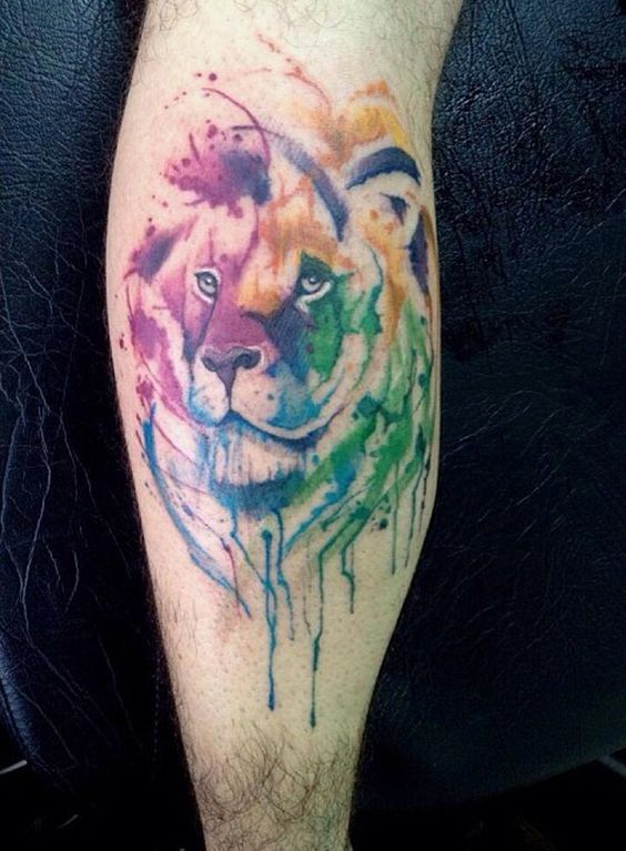 tatuajes tigres en la pierna rodilla tobillos 3 - tigres