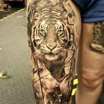 tatuajes tigres en la pierna rodilla tobillos 4 150x150