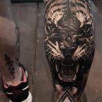 tatuajes tigres en la pierna rodilla tobillos 5 150x150