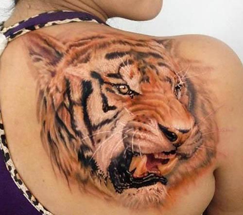 tatuajes tigres espalda 3