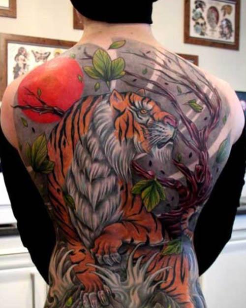 tatuajes tigres espalda 4
