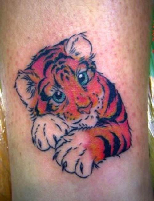 tatuajes tigres mujeres lindos 1
