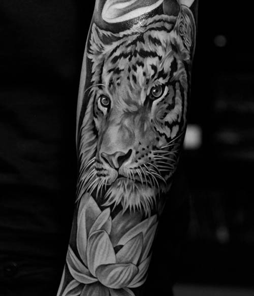 tatuajes tigres mujeres lindos 3