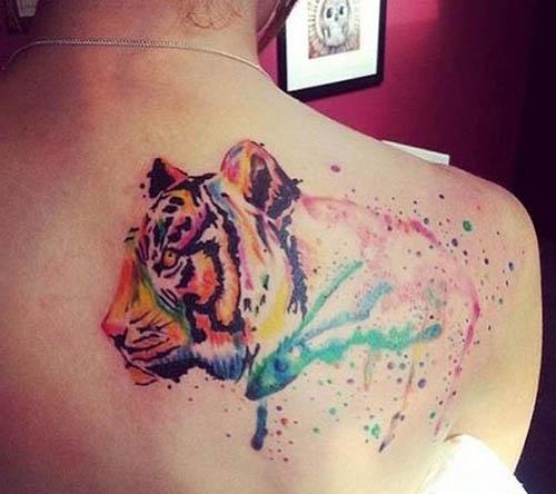 tatuajes tigres mujeres lindos 5