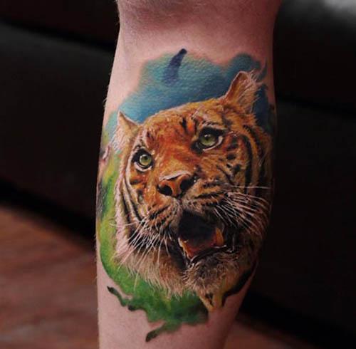 tatuajes tigres realistas 3D 1