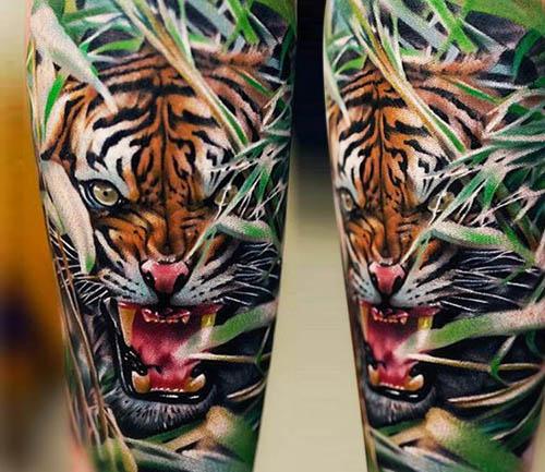 tatuajes tigres realistas 3D 5