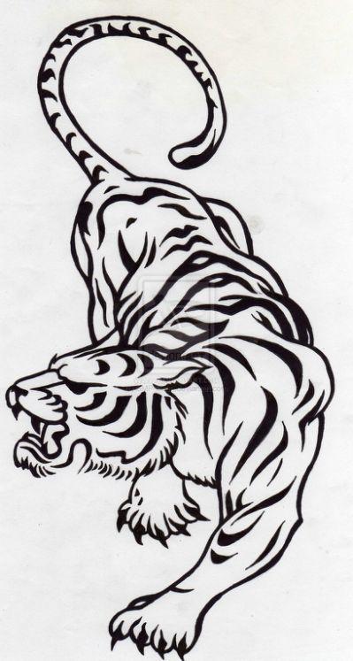 tatuajes tigres tribales diseños 2 - tigres
