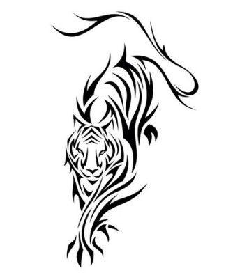 tatuajes tigres tribales diseños 3 - tigres