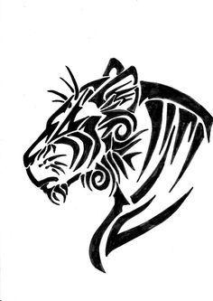 tatuajes tigres tribales diseños 4 - tigres