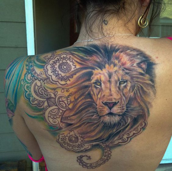 tautajes leones mujer leonas 8
