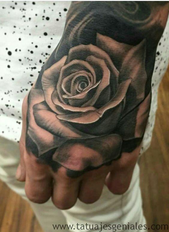 tattoo rosas mano 1