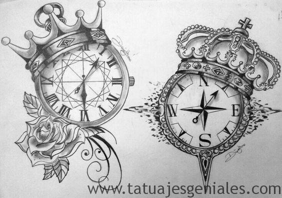 diseños tatuajes brújulas 1