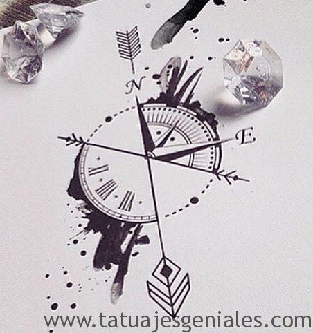 diseños tatuajes brújulas 5
