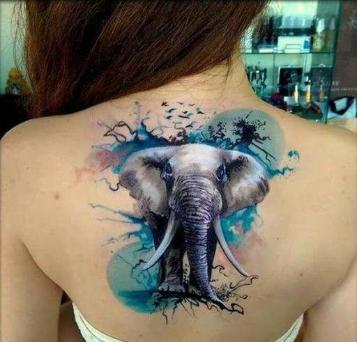 elefantes de colores 1 - tatuajes de elefantes