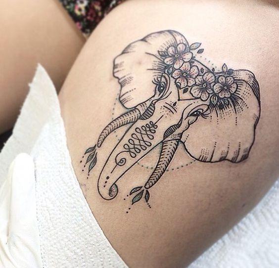 elefantes de mujeres 6 - tatuajes de elefantes