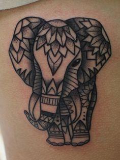 elefantes mandala 1 - tatuajes de elefantes