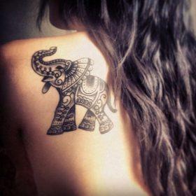 elefantes mandala 4 - tatuajes de elefantes