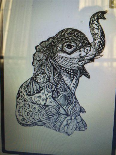 elefantes mandala 8 387x516 - tatuajes de elefantes