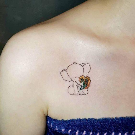 elefantes pequeños 2 - tatuajes de elefantes