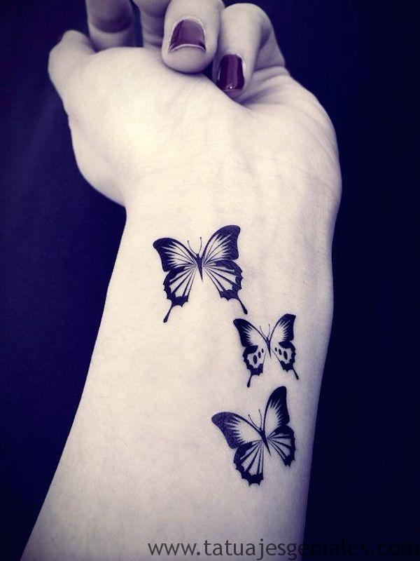 tatto pequeños mariposas 2