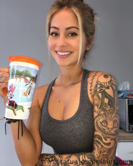 tattoo brazo manga mujer 2