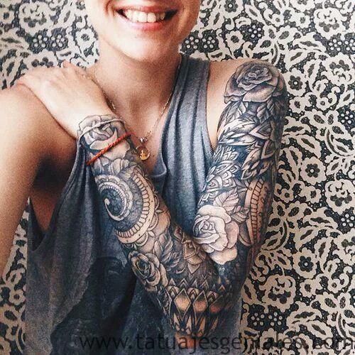 tattoo brazo manga mujer 3