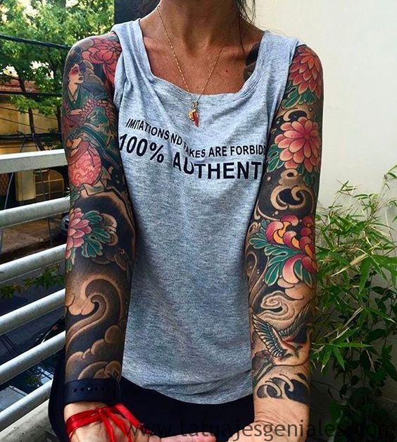 tattoo brazo manga mujer 4