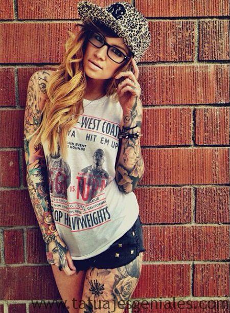 tattoo brazo manga mujer 6