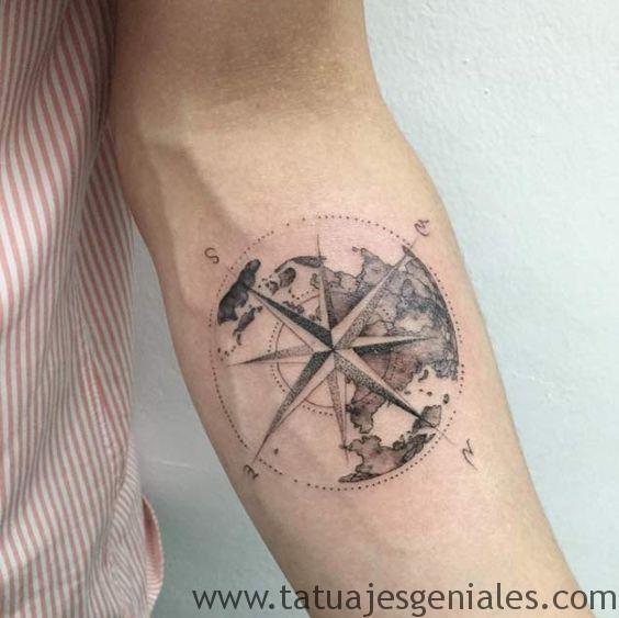 tattoo estrella nautica brazo 1