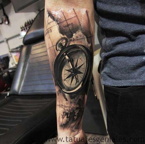 tattoo estrella nautica brazo 3