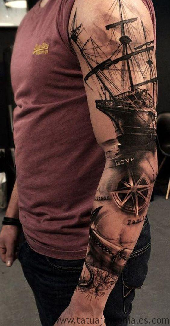 tattoo estrella nautica brazo 6