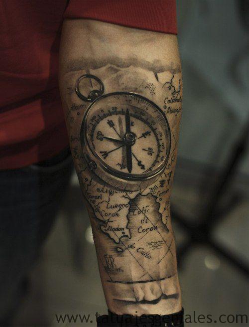 tattoo estrella nautica brazo 7