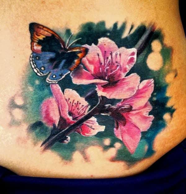 tattoo flores mariposas 1
