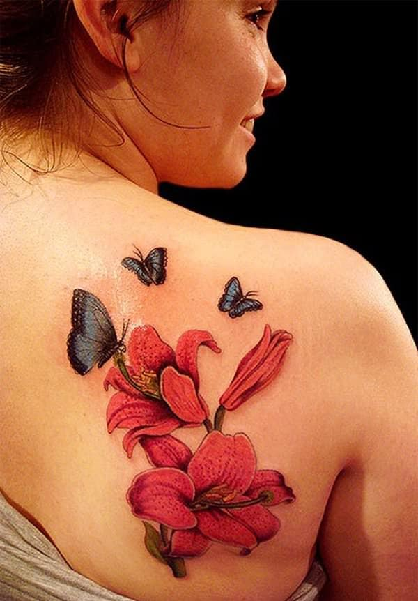 tattoo flores mariposas 2