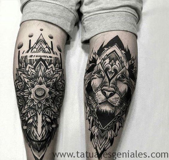 tattoo hombre piernas tatuajes 3