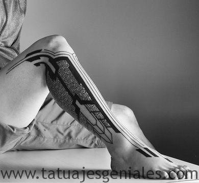 tattoo hombre piernas tatuajes 5