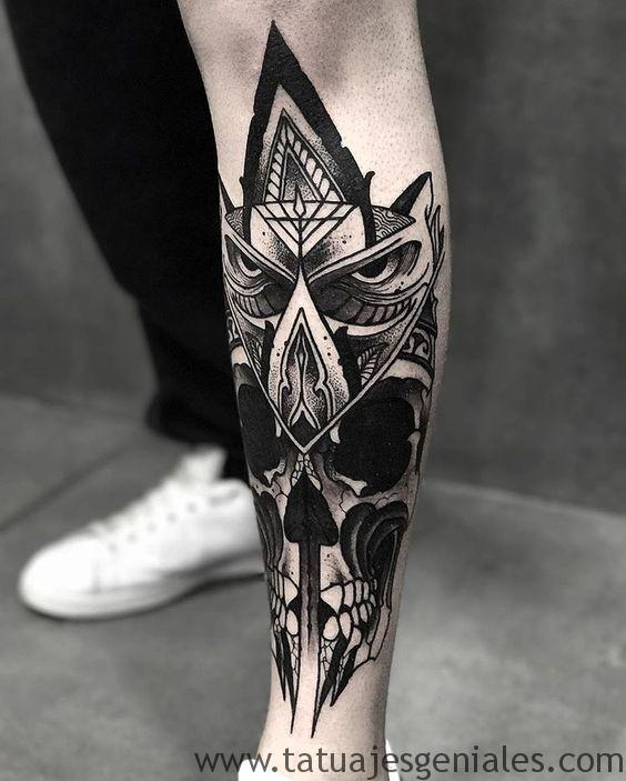 tattoo hombre piernas tatuajes 8